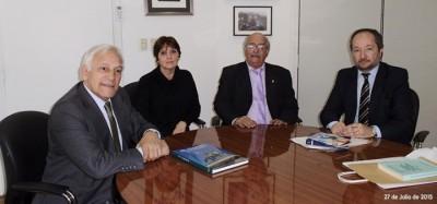 El Superintendente Bontempo recibió al presidente del Instituto Nacional Belgraniano